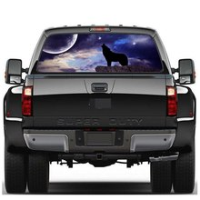 Car Rear Window Sticker Wolf Pattern Sticker Graphic Decal W