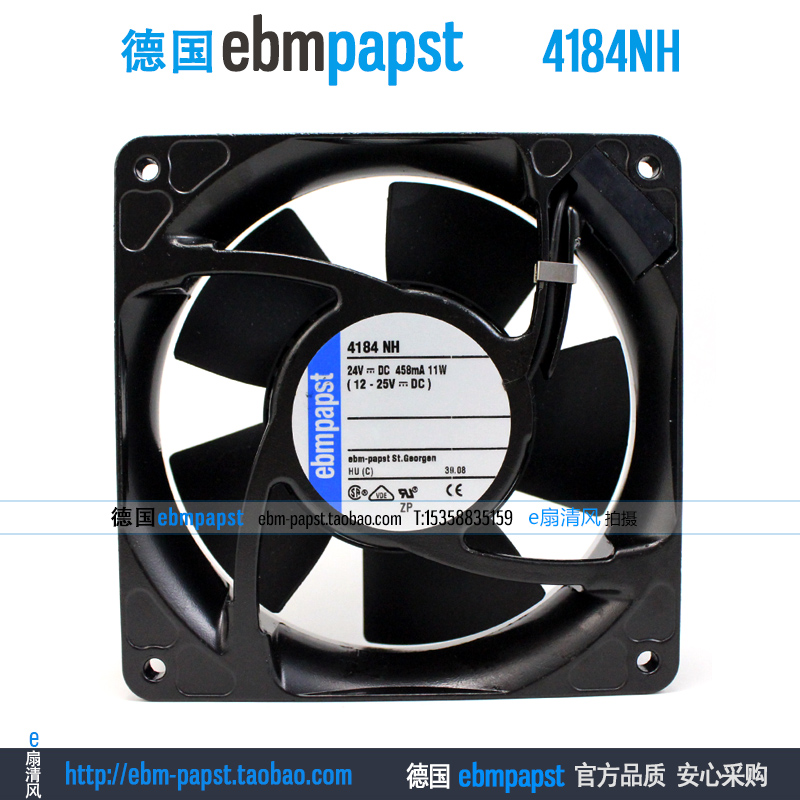 ebmpapst 4184 NH 4184NH DC 24V 458mA 11W 120x120x38mm Server Square fan sanyo 9sg1224p1g03 dc 24v 2a 120x120x38mm server square fan