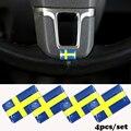 Carro-styling Roda Esporte Logotipo Emblema 3D do Emblema Etiqueta Decalques Para Volvo V40 V60 S60L S80 XC90 XC80 O adesivos de carro