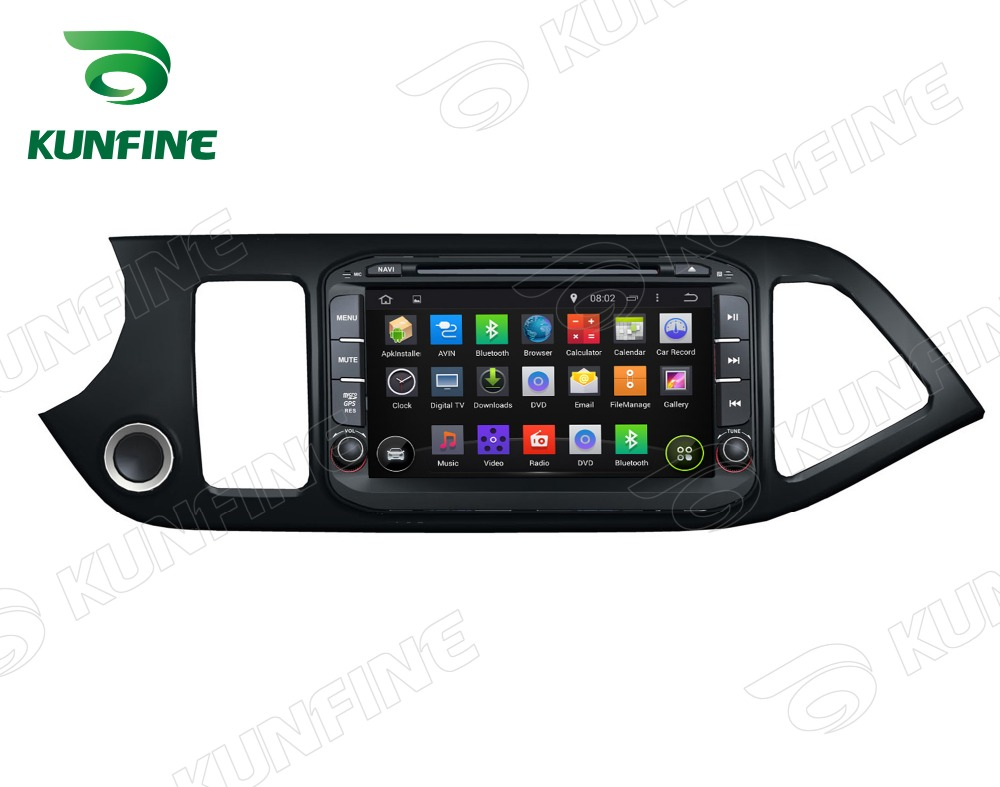 Quad core 1024 600 android 5 1 car dvd gps navigation player for kia picanto 2014