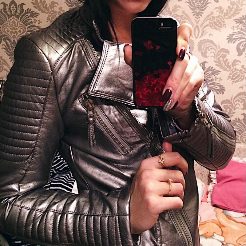 2018 New Autumn Winter Women Soft Faux Leather Jackets and Coats Femal Motorcycle Biker PU Outerwear
