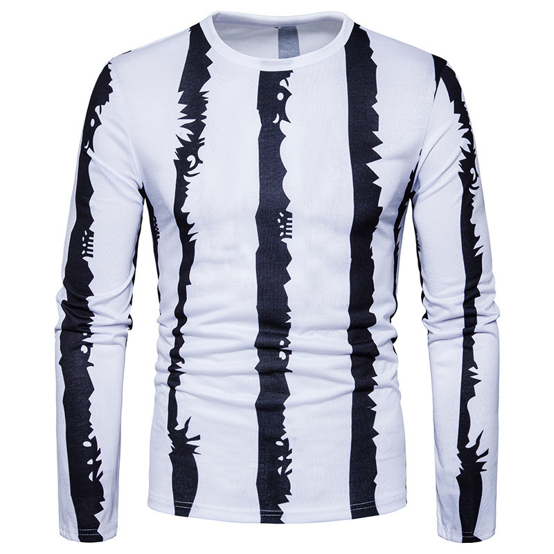 Men's Fashion tshirts O-Neck Comfortable T-Shirt Casual Printing Long Sleeve mens Clothing shirt brand men