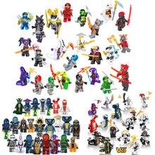24pcs Compatible Mini Bricks Nijagoed Ghost Evil Ninja Pythor Choprai Mezmo Serpentine Army Figure Building Block Toy For Kids