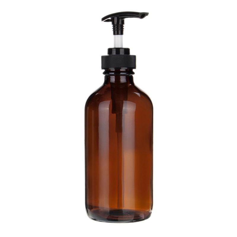 Amber Glass Trigger <font><b>Spray</b></font> Pump <font><b>Bottles</b></font> Essential Oil Aromatherapy, 1pcs image