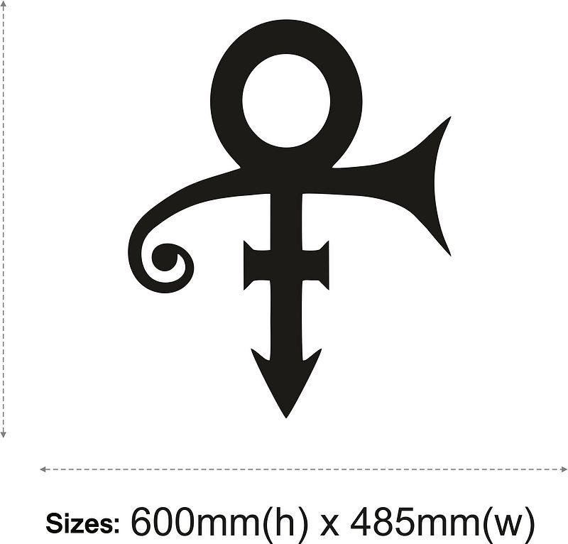 Prince Symbol Vinyl Wall Stickers Artistic Design Etiqueta Pared