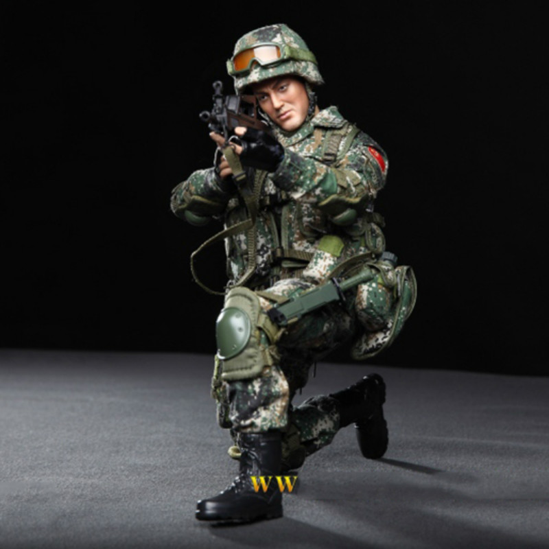 1/6 Scale Full set Chinese Soldier Army special forces Wolf Warriors Zhan lang Horri bull Action Figure Collection Doll Toy Gift1/6 Scale Full set Chinese Soldier Army special forces Wolf Warriors Zhan lang Horri bull Action Figure Collection Doll Toy Gift