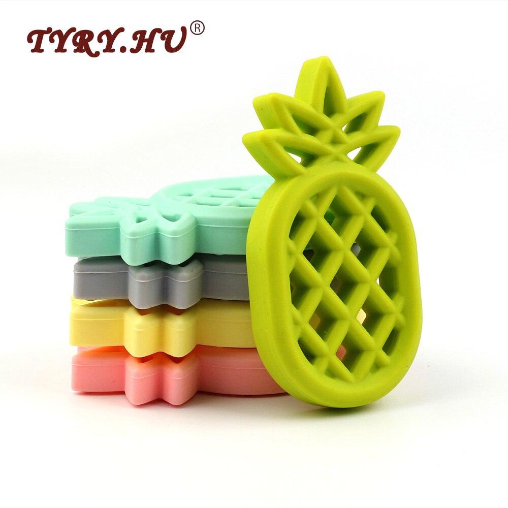TYRY.HU Pineappl Silicona Mordedor BPA Colgante de Silicona Libre - Cuidando a un niño