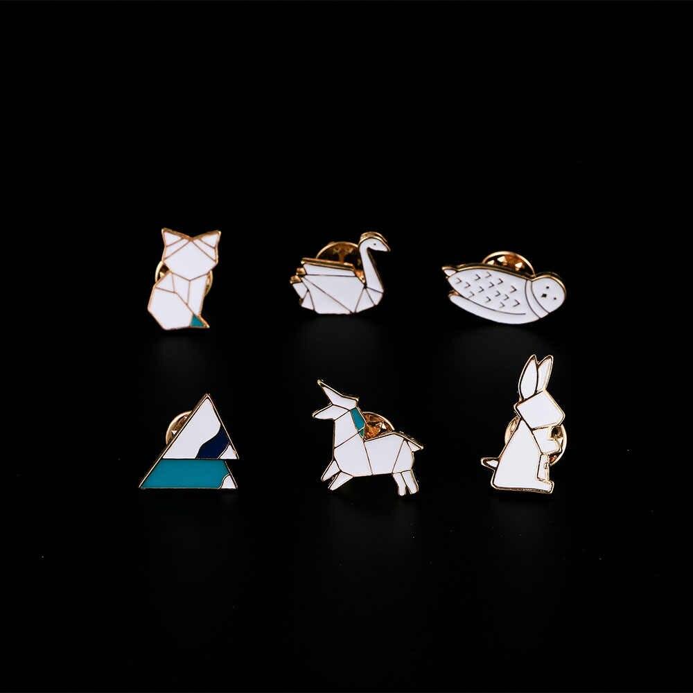 Bella Bunny Spille Gufo Volpe Cigno Iceberg Animali Smalto Spille Spilli Carino Distintivo Spille Per Le Donne di Modo Del Partito Del Regalo