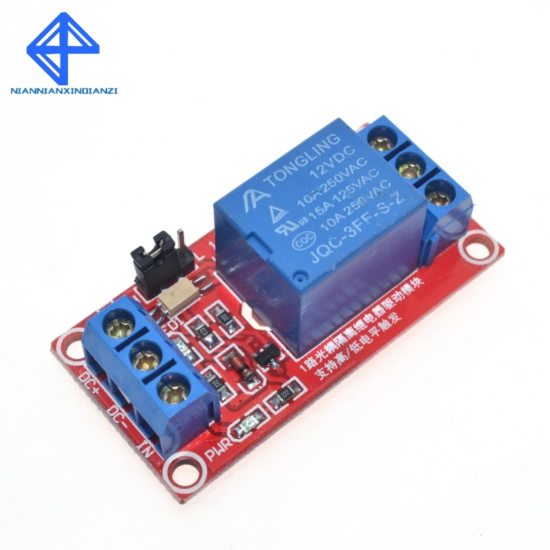 One 1 Channel 12V Relay Module Board Shield with Optocoupler Support High and Low Level Trigger for Arduino