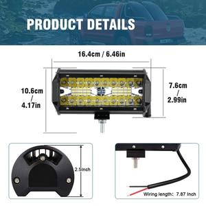 Image 2 - OKEEN LED Light Bar 7Inch Spot Flood Combo Off Road Lights 12V 120W LED Driving Fog Work Light for Jeep Trucks ATV Buggy UTV SUV