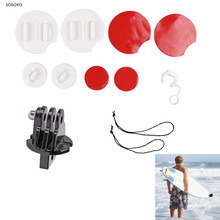 8 in 1 Surfing Surfboard Kit Surf Snowboard Wakeboard Mount Surf Pack Set For Gopro Hero 7 6 5 4 3+ 3 SJCAM Camera Accessories