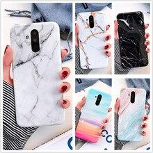 Fashion Marble Case For Huawei P30 P20 Mate 20 Pro Lite Soft Silicone TPU Shockproof Back Cover Nova 3e 3i