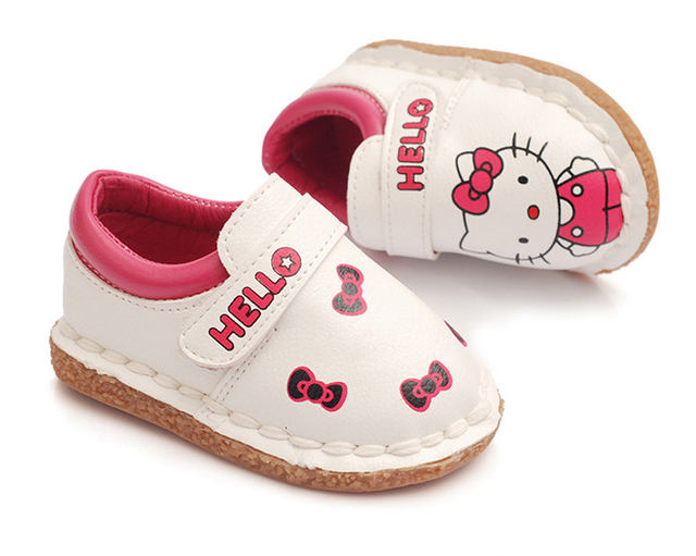 cute cartoon causal baby girl shoes hello kitty pattern soft shoes for 3M-3yrs baby newborn infantil outdoor causal shoes hot