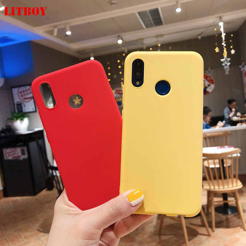LITBOY Silicone Soft TPU Cover case for Huawei P8 lite 2017 P9 P10 Lite Pro Nova 2 2S Honor 6A 6X 7X Honor 8 9 Mate 9 10 20 lite