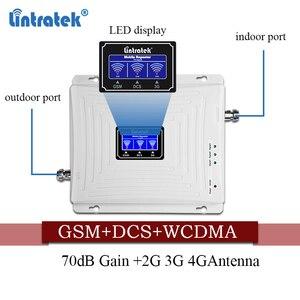 Image 4 - Lintratek אות סלולארי 900 1800 2100 GSM Tri Band מגבר אות ניידת מהדר DCS WCDMA 2G 3G 4G LTE אנטנה #40