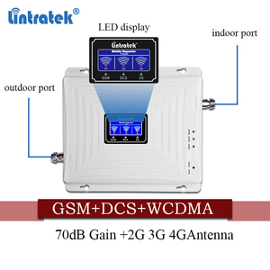 Image 4 - Lintratek cellular Signal Booster 900 1800 2100 GSM Tri Band Amplifier Mobile Signal Repeater DCS WCDMA 2G 3G 4G LTE Antenna#40