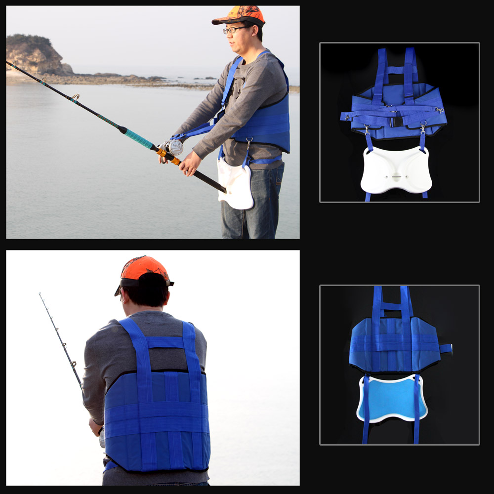 Best Professional Stand Up Offshore Fighting Belt + Shoulder Back Harness For Big Fish Sea Fishing Accessories Fishing Tackle-in Fishing Tools from Sports & Entertainment    1