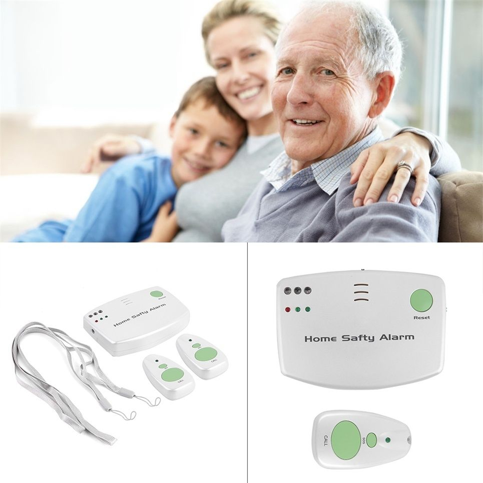 Home Safety Alarm Panic Call System For Patient Medical Elders Helper Children wireless service call bell system popular in restaurant ce passed 433 92mhz full equipment watch pager 1 watch 7 call button