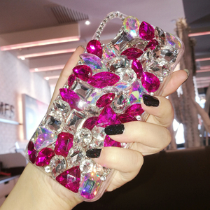 Image 4 - Luxury Crystal Gem Rhinestone Cases For iphone 11 12 Pro X XS MAX XR Soft Edge Clear Phone Cover For iphone 5S 6S 7 8 PLUS Capa