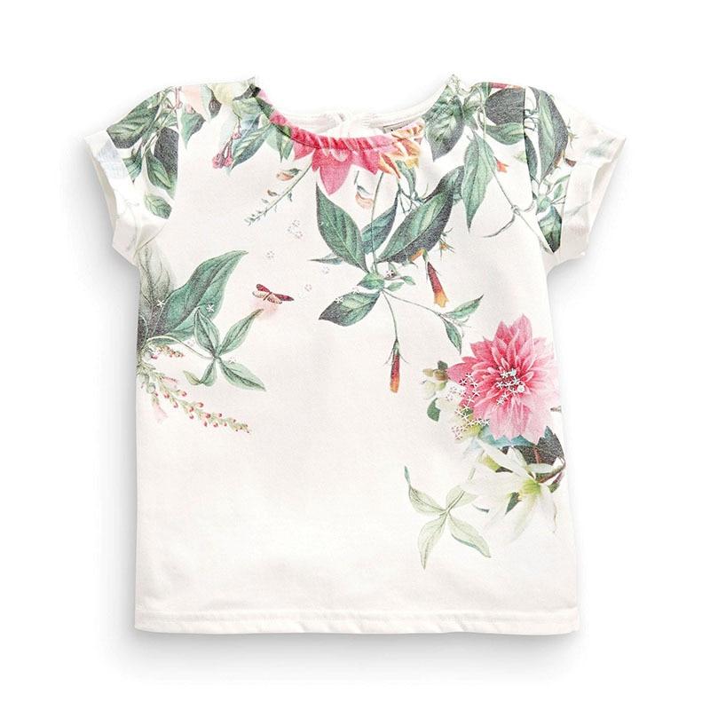 Camiseta de manga corta para niñas Camiseta básica de bebé blanca - Ropa de ninos