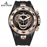 Reef Tiger/RT Роскошные спортивные часы для мужчин мужской резиновый ремешок водостойкий хронограф часы большая дата Relogio Masculino RGA303 2