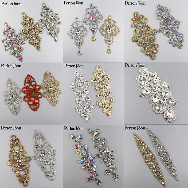 10PCS Diy Sparkling Retro AB Rhinestone applique Welding Crystal patch Decoration Sew on the Clothes for