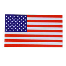 6.5*11.5cm United States USA Flag Emblem Badge Sticker American national map Car stickers Motorcycle Auto Decor Decals Wholesale(China)