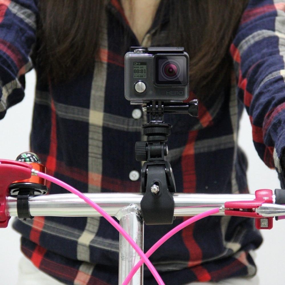 PULUZ Sports Camera Accessories Black Motorcycle Bicycle Handlebar Holder with Tripod Mount Screw for GoPro HERO 5 Hero 4+SJ4000 bz bz66 motorcycle frame bracket holder for gopro sj4000 black