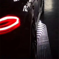 car accessories motorcycle Partol 2Pcs Angel Wings Car Welcome Light Shadow Projector LED Door Warning Lamp for Audi for BMW