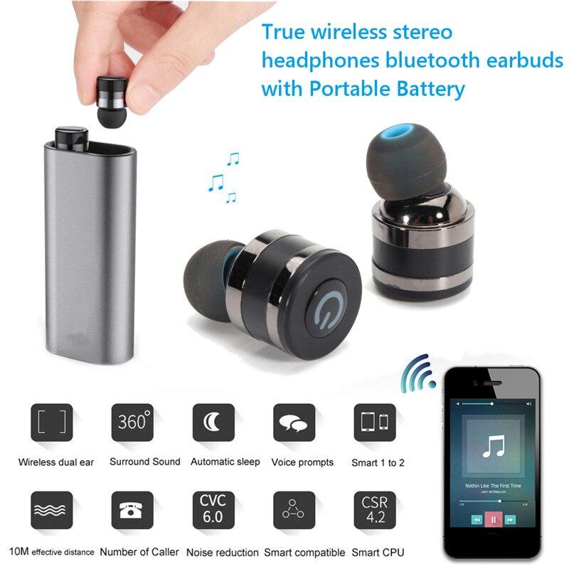 LEORY E8 TWS Bluetooth Earphone Mini Bluetooth V4.1 Headset Double Wireless Earbuds Cordless Earbuds Earphones