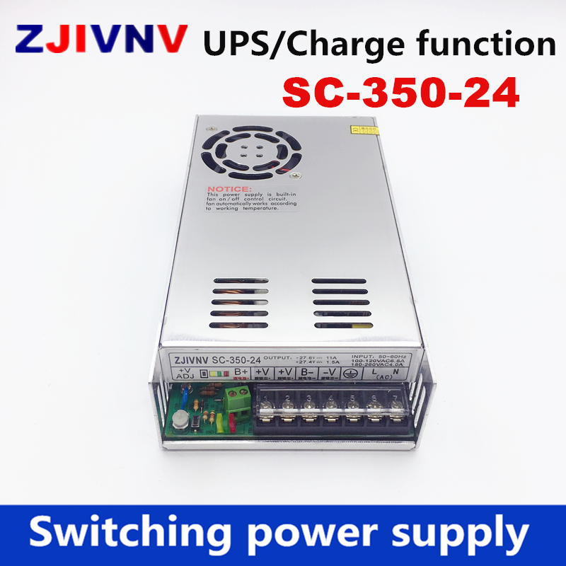 New 350w 24v 11A universal AC UPS/Charge function monitor switching power supply input 110/220v battery charger output 27.6VDC 35w 24v universal ac ups charge function monitor switching mode power supply sc35w 24