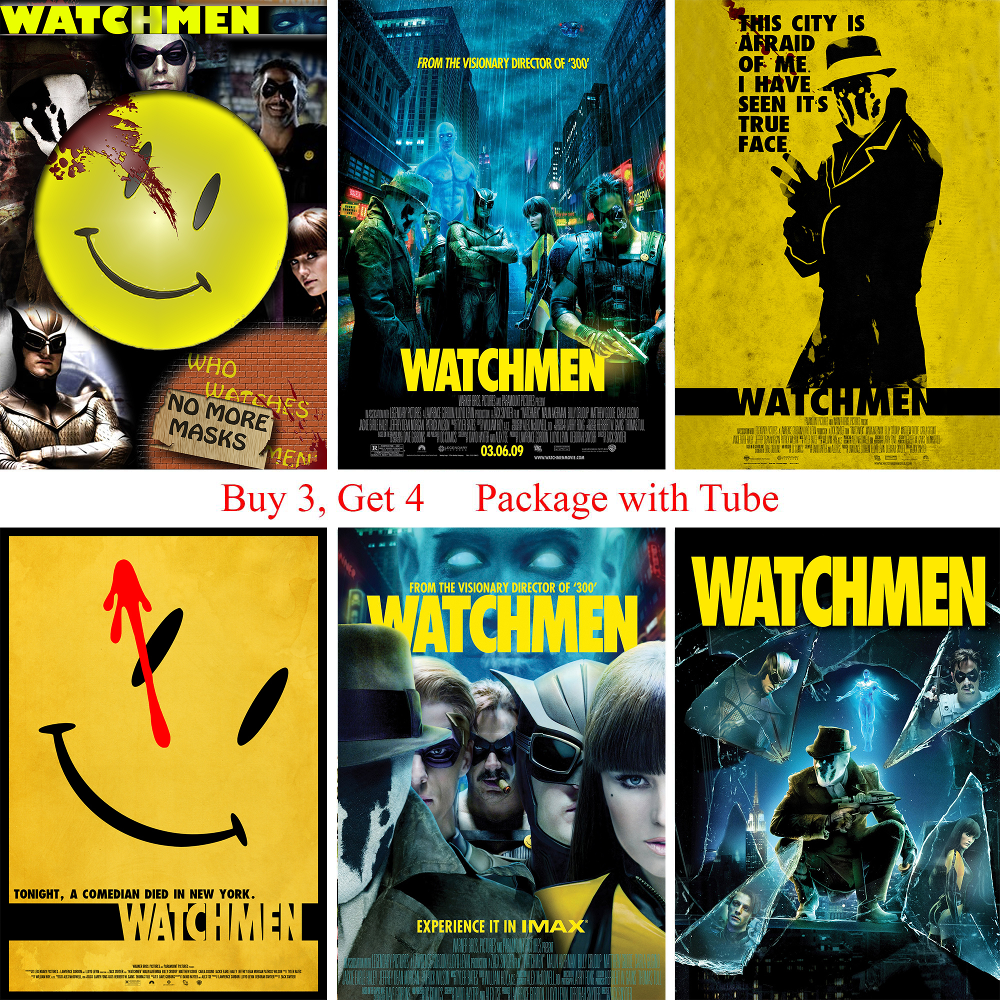Watchman Posters Movie Wall Stickers White Coated Paper Prints High ...