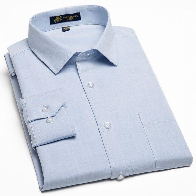 2018 Neue Männer Leinen Baumwolle Casual Shirt Langarm Hohe Qualität Mit Tasche Social Slim Fit Weiche Business Männer Kleid Hemd Die Neueste Mode