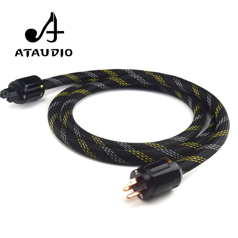 ATAUDIO Hifi Pure Copper Power Cable High Quality US Standard Power Cord For DVD Amplifer Multimedia 1M 2M 3M