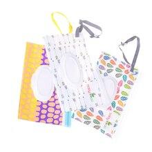 Экологичная коробка для детских салфеток, коробка для влажных салфеток, чистящие салфетки, сумка для переноски, раскладушка, защелкивающийся ремешок, чехол-контейнер для протирки