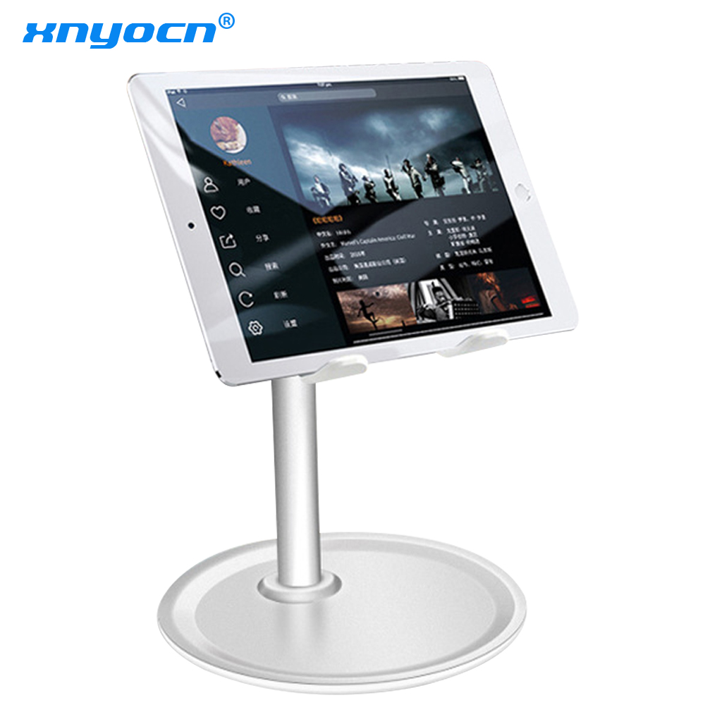 High Quality Non-slip Aluminum Metal Phone Tablet Holder Stand Desktop Phone Bracket Mount Office Desk Adjustable Display Cradle