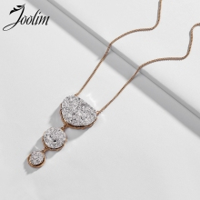 Joolim Trendy Resin Silver Druzzy Pendant Necklace Cultural Stylish