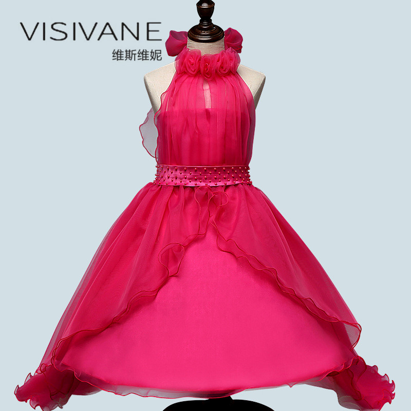 Robe de mariée Fille Robe de princesse fête d'été enfants vêtements dentelle demoiselle d'honneur fleur enfants vêtements Vestidos Robe Fille