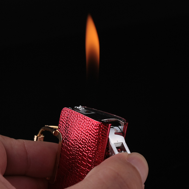Creative Compact Handbag Jet Lighter Butane Bag Inflated Fire Lighter Bar Metal Funny Toys No Gas in Matches from Home Garden