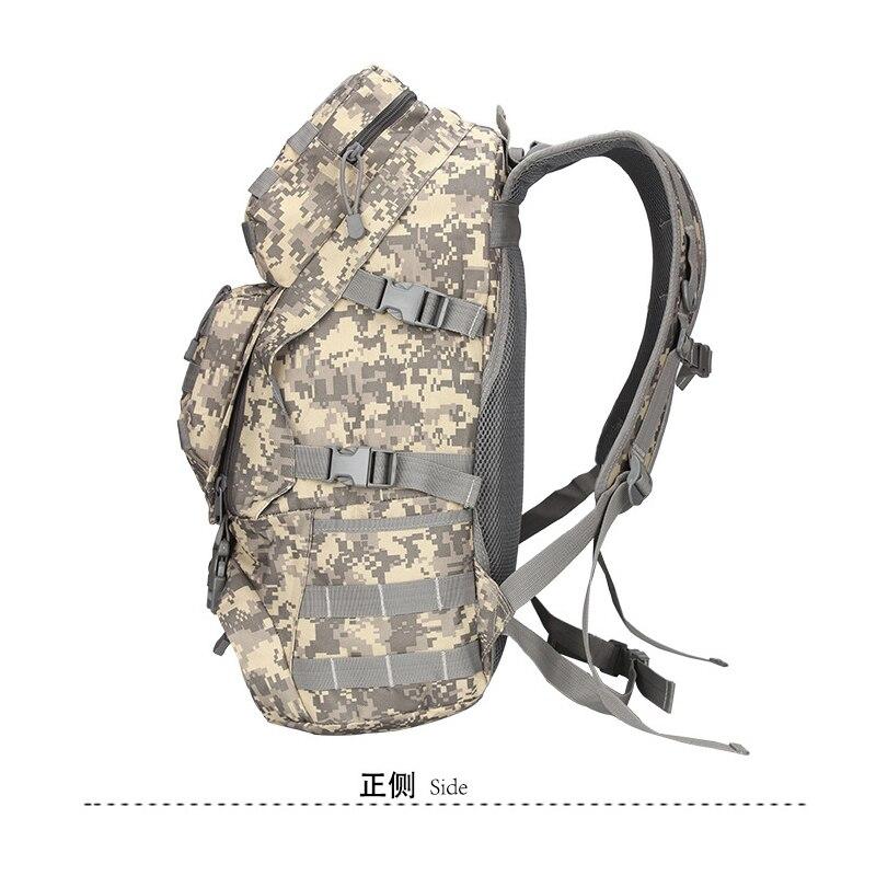Sac à dos de randonnée de grande capacité en plein air sacs de camouflage militaire d'alpinisme Camping voyage sac à dos en toile