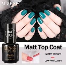 Матовый лак для ногтей MIZHSE, замачиваемый УФ-светодиодный лак для ногтей Vernis Ongle, матовый прозрачный лак для ногтей