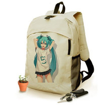 Anime Hatsune Miku Cosplay 2017 new male and female students campus leisure fashion backpack travel backpack