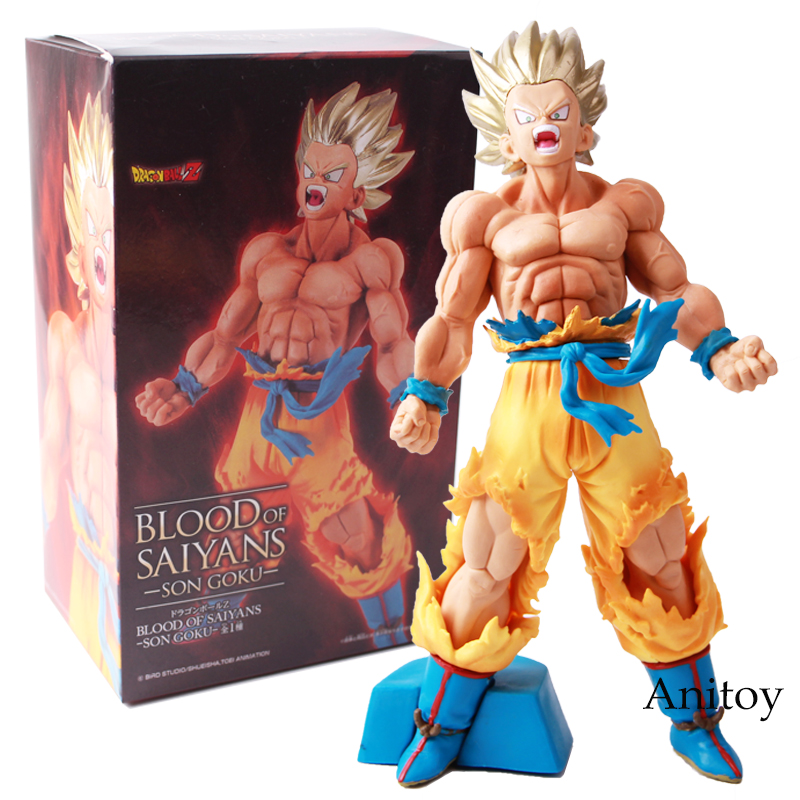 Dragon Ball Z Blood of Saiyan Son Goku PVC Action Figure Collection Model Toy 20cm the son gohan dragon ball z action figure model 20cm pvc son goku figure toys for collection kids toy