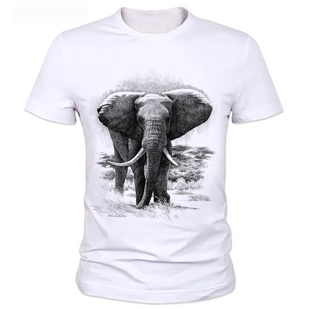 30a357f4 Summer New Fashion Promotion 3D Elephant Printed T-shirts Short Sleeve T  Shirts Men's Tops Size Casual Tees 57# ~ Super Sale May 2019