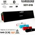 Sdy-019 sardine wireless bluetooth speaker boa baixo soundbar speaker para telefone portátil alto-falantes estéreo subwoofer caixa de som fm