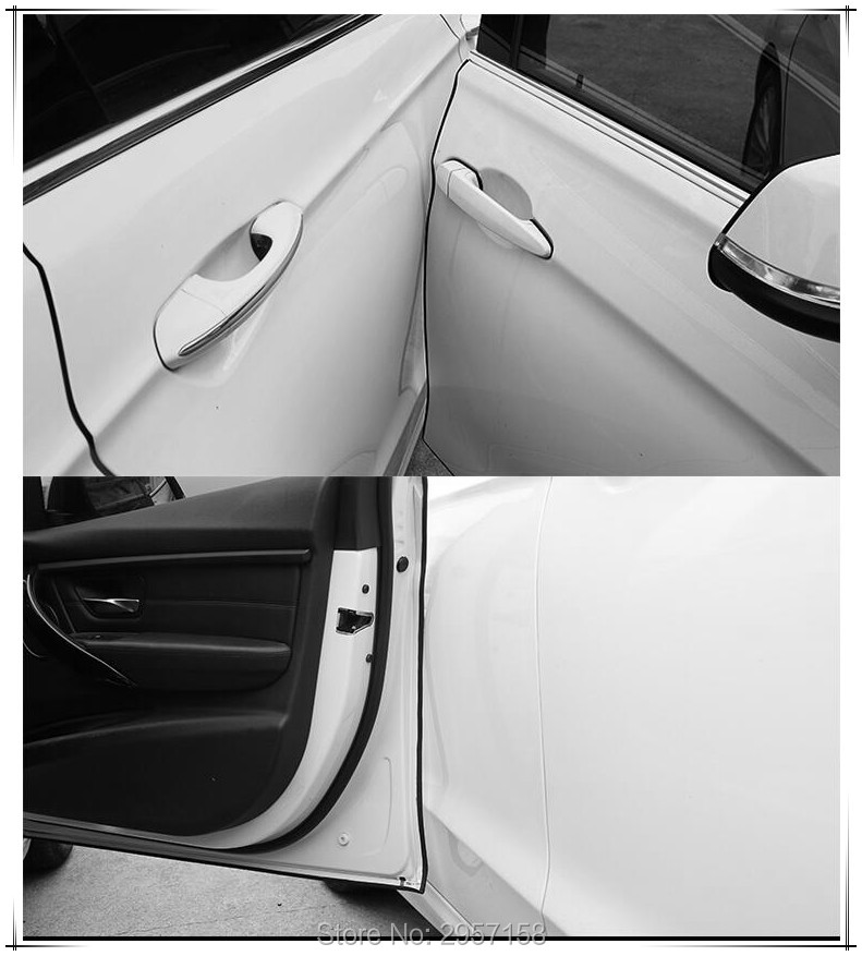 5M Moulding Trim Car Door Scratch Edge Guard Cover Strip Crash Protector White
