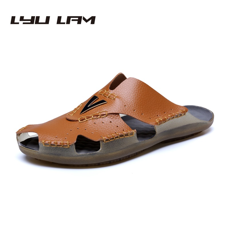 Big Size EU38-48 Outdoor Slides Men Slippers Summer Sandals Men Beach Sandals Microfiber Men Shoes Sandalias Hombre Chausson
