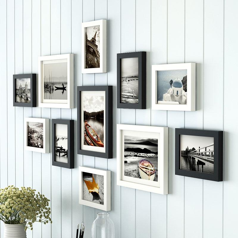 11pcs Wooden Multi Photo Frame Picture Frames Wall Hang Collage ...