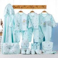 19pcs newborn clothes set 100%cotton cortoon elk baby boys girl gift box set infant's outfits dwq