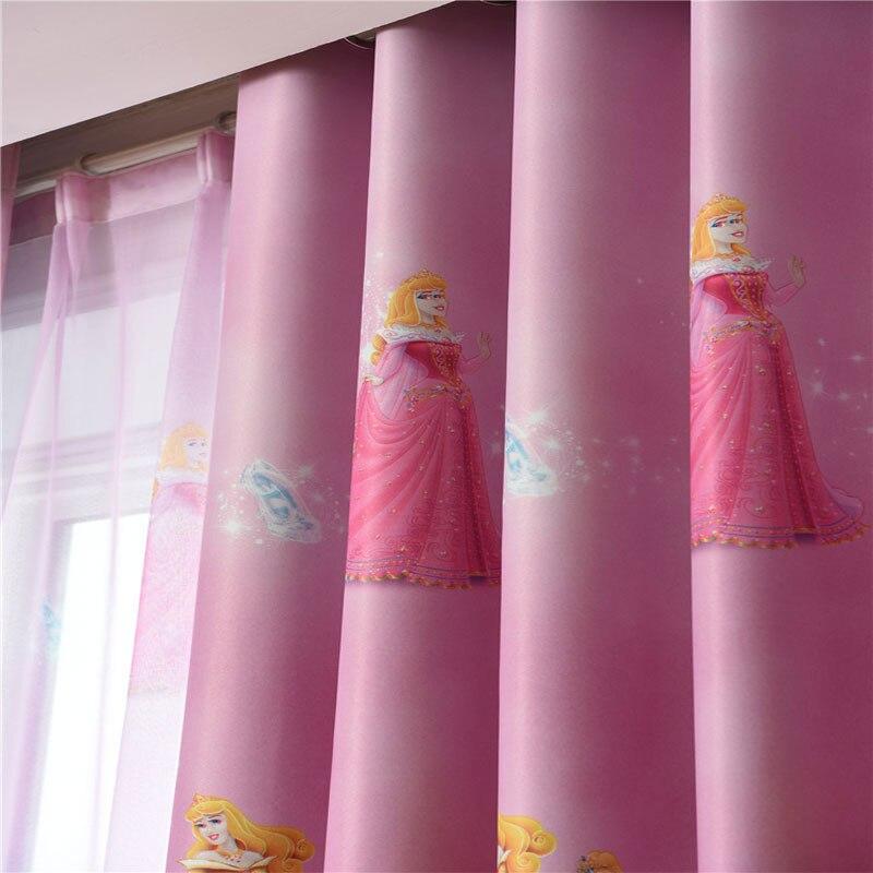 US $13.0 35% OFF|Children Cartoon Girls Bedroom Curtain Kids Blinds Window  Shade Cloth Cute White snow princess Print Pattern Screening Fabric-in ...